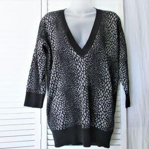 M Michael Kors silver metallic black sweater M